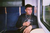 In der Bahn nach Dormagen mit meiner Freundin (Saher)